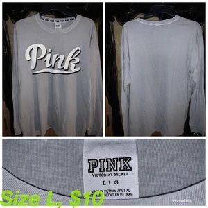 Pink Victoria's Secret long sleeve shirt .